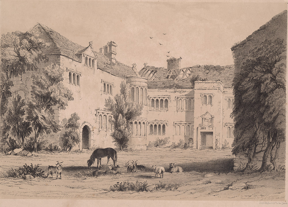 West front of Llantrithyd place house, the property of Sir T. D. Aubrey, Bart