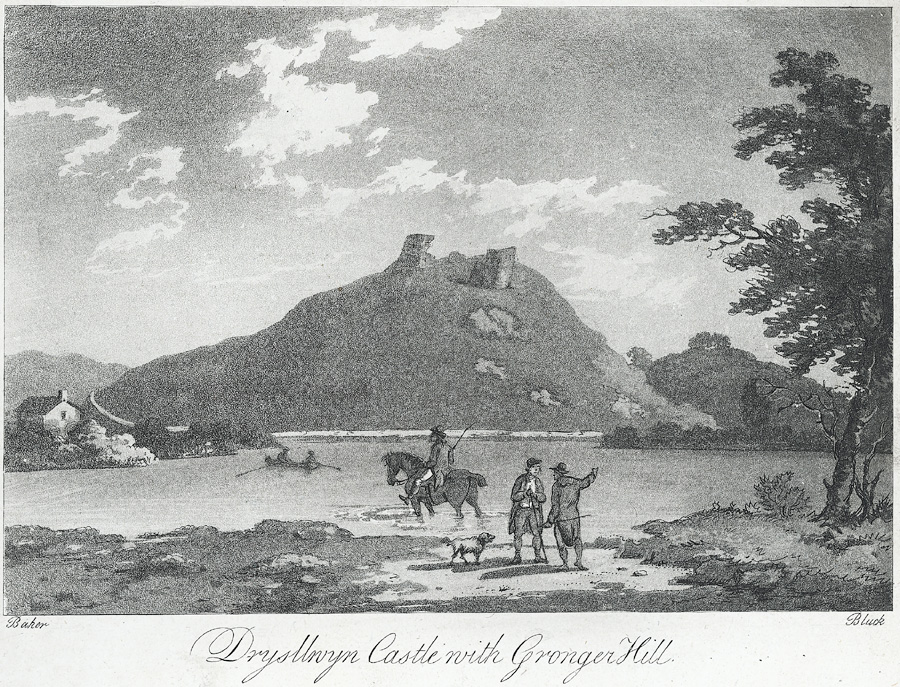 Drysllwyn Castle with Gronger Hill
