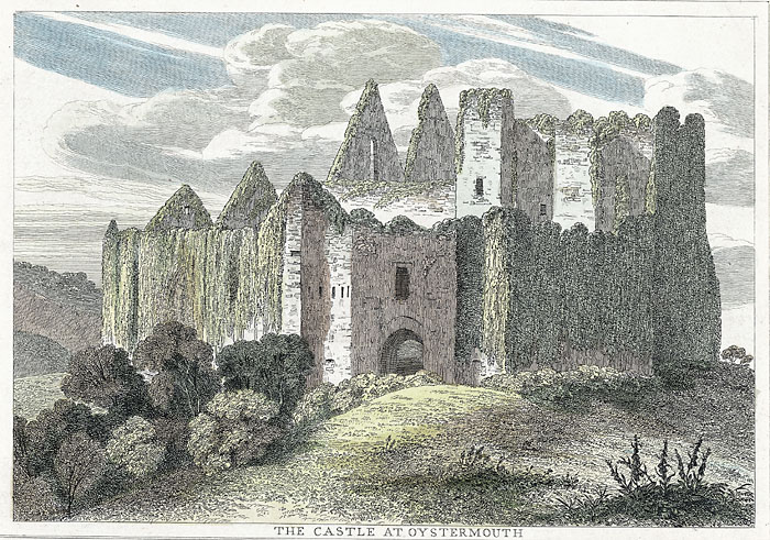 The castle at Oystermouth