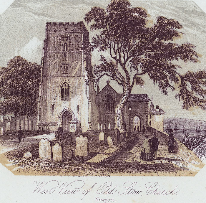 West view of Old Stow Church, Newport
