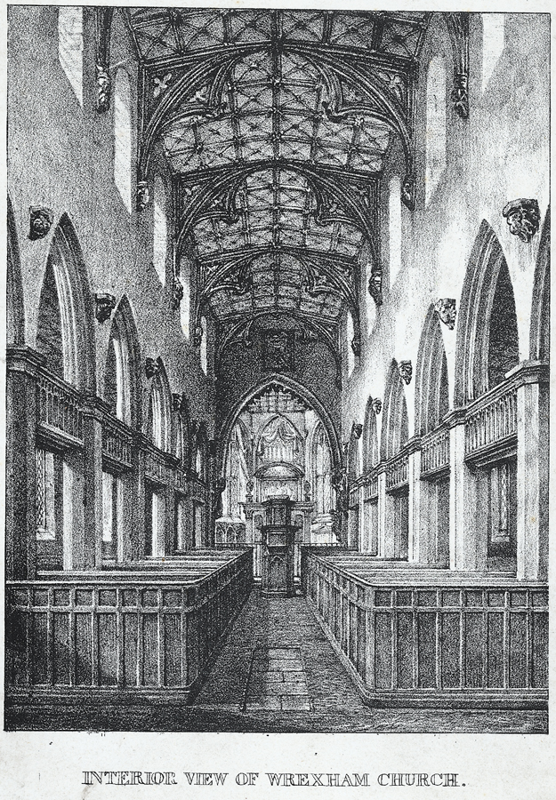 Interior view of Wrexham church