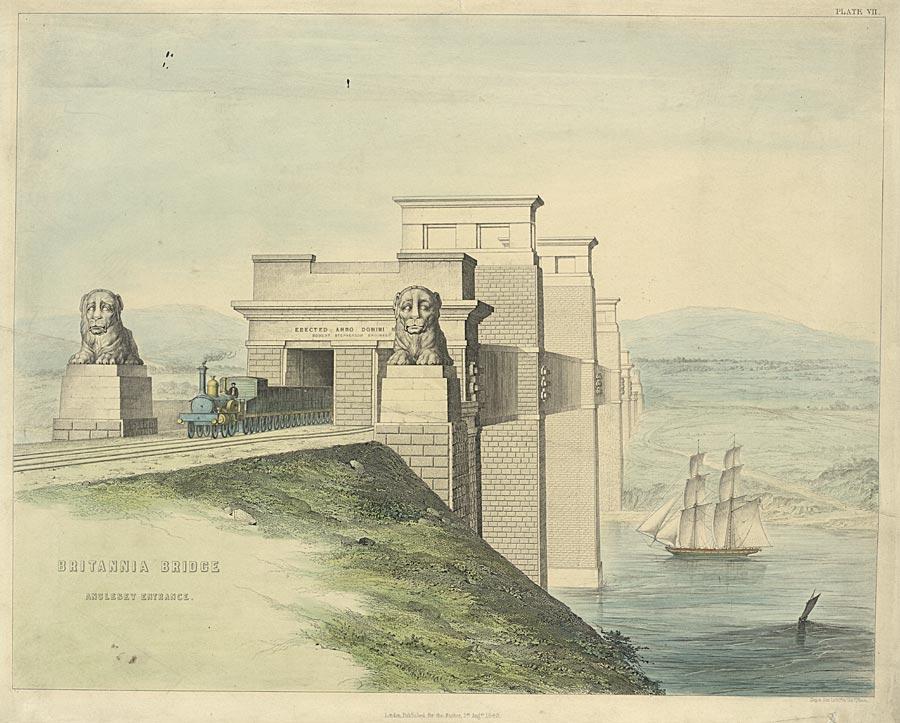 Britannia Bridge Anglesey entrance
