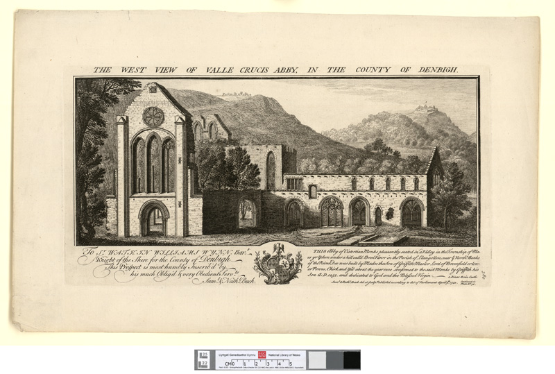 The west view of Valle Crucis Abby, in the county of Denbigh April 9th 1742
