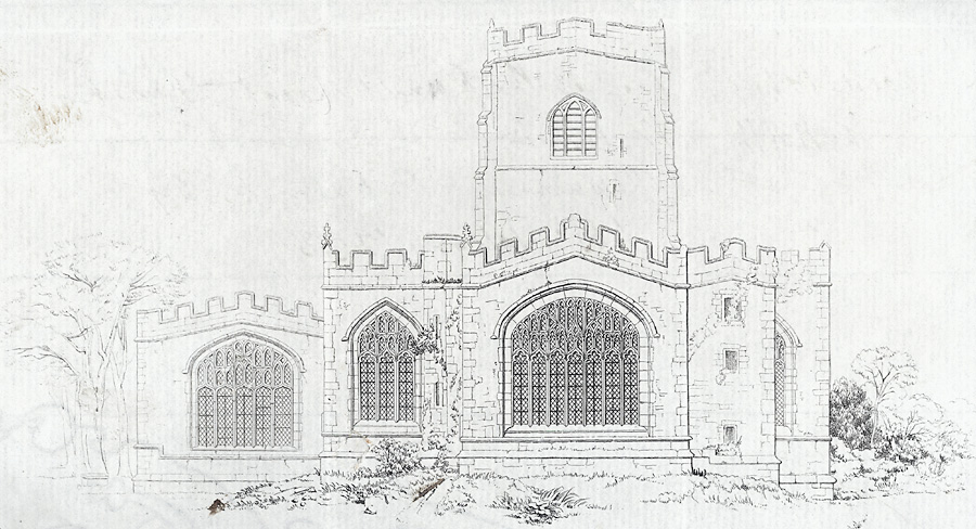 East View of the Church of Clynnog Fawr