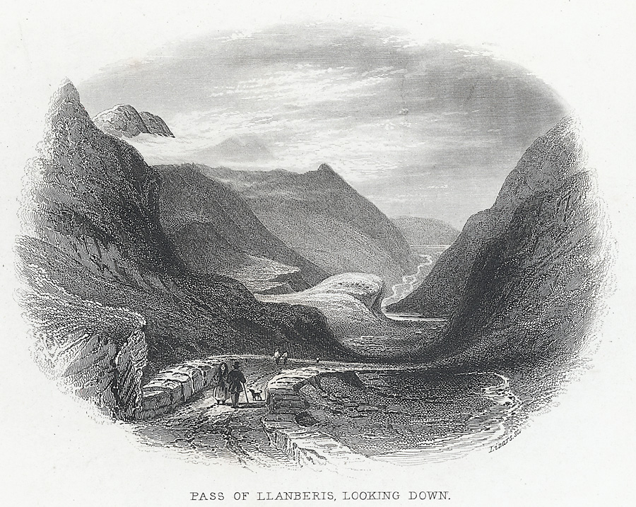 Pass Of Llanberis, Looking Down