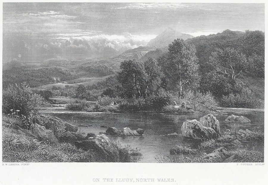 On the Llugy, north Wales