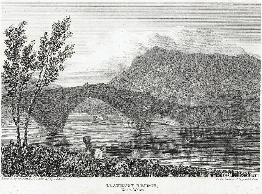 Llanrust bridge, north Wales