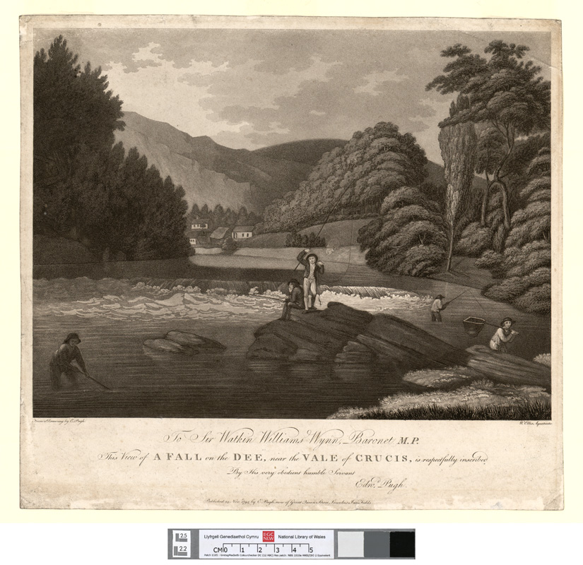 A fall on the Dee, near the Vale of Crucis 24 Novr 1794