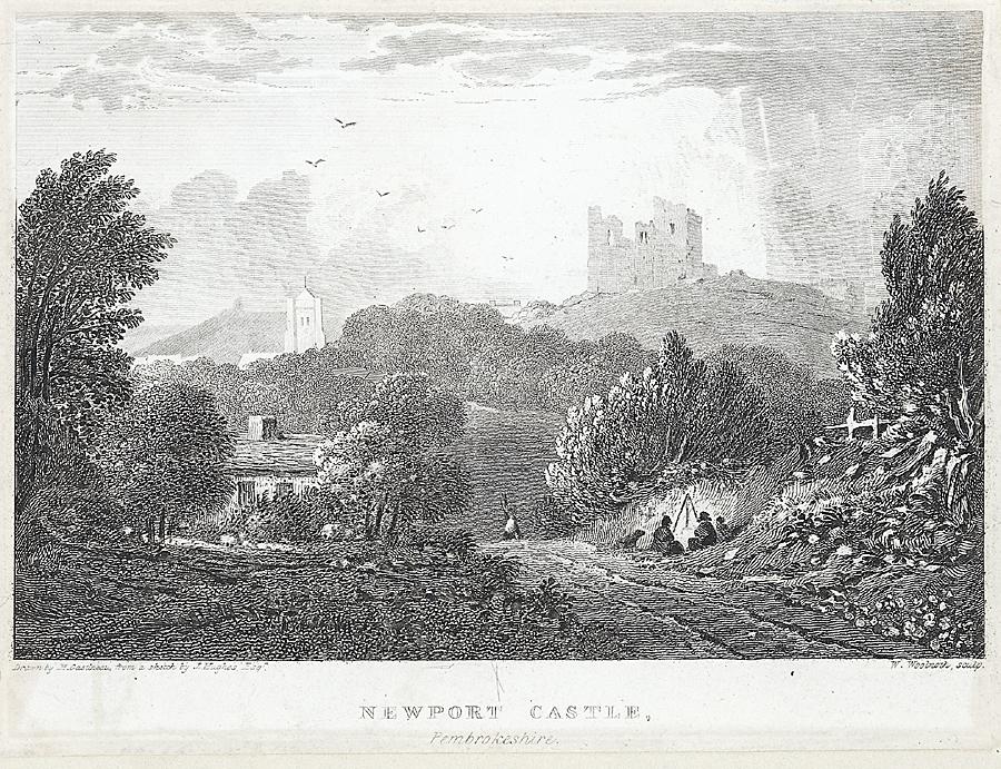 Newport Castle, Pembrokeshire. Octr 1 1824