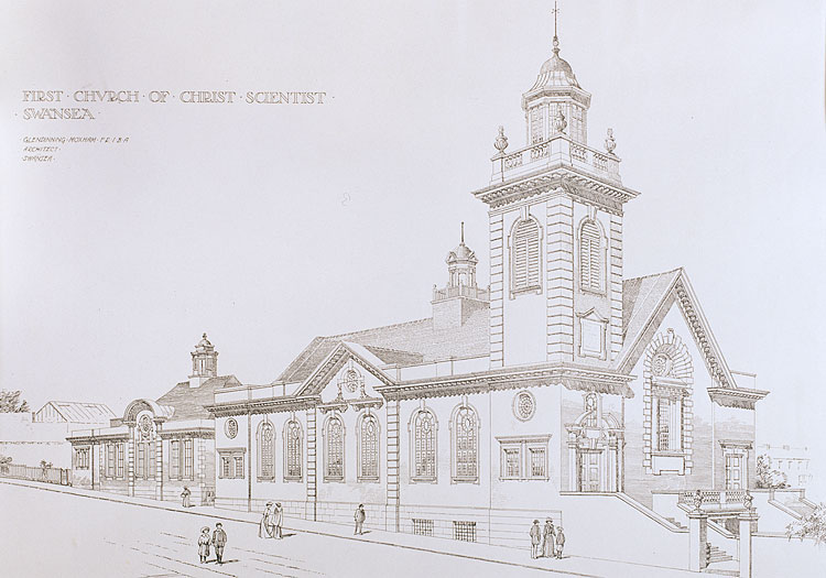 The church of Christ Scientist, Swansea