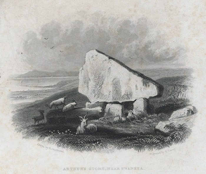 Arthur's stone, near Swansea