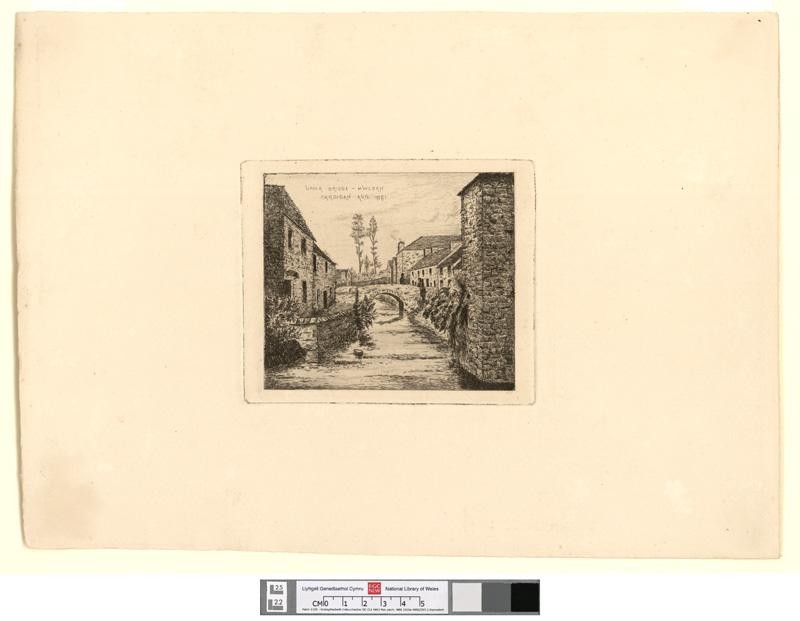 Upper Bridge - Mwldan, Cardigan, Aug. 1881