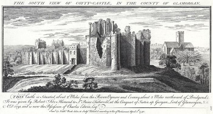 The south view of Coyty-castle, in the county of Glamorgan
