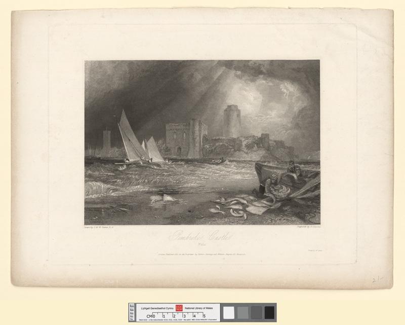 Pembroke castle, Wales 1831