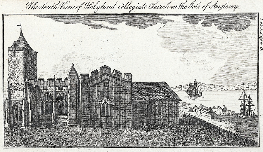 The south view of Holyhead Collegiate Church in the Isle of Anglesey