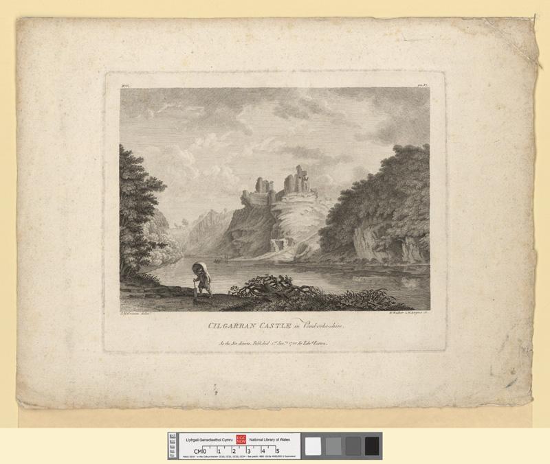 Cilgarran Castle in Pembrokeshire 1st Janry 1780