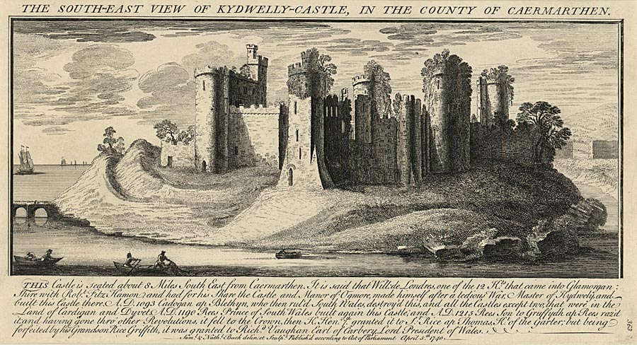 The South-East View Of Kidwelly-Castle, In The County Of Caermarthen
