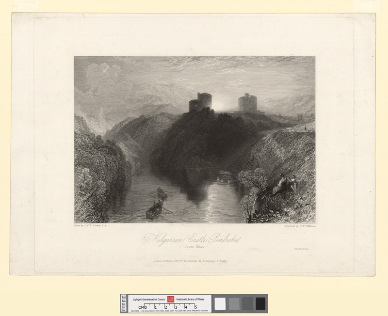 Kilgarren Castle, Pembroke, south Wales 1829