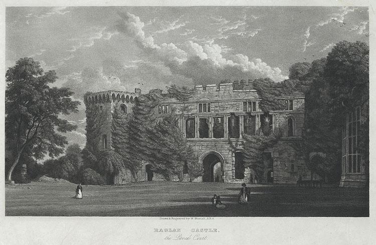 Raglan Castle, the Paved Court