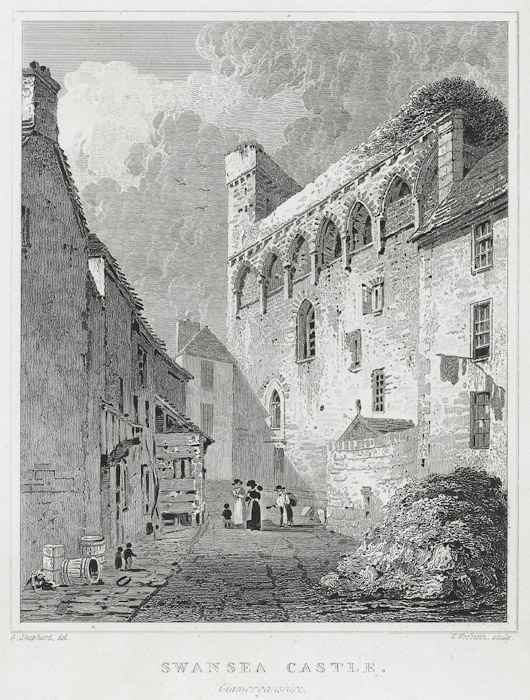 Swansea castle, Glamorganshire