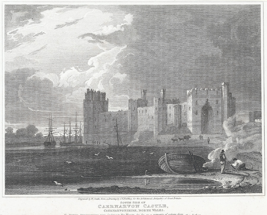 South side of Caernarvon Castle
