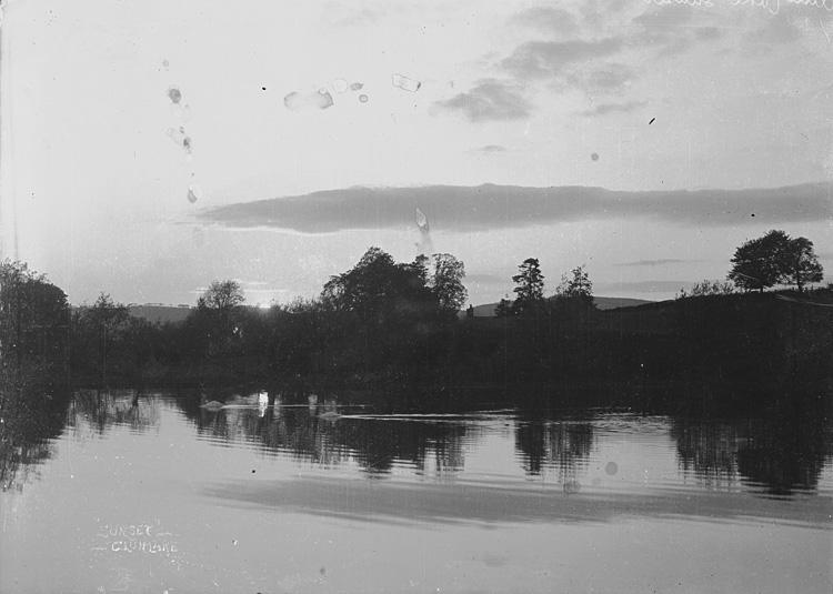 """"""" Sunset"""" Clun lake"""