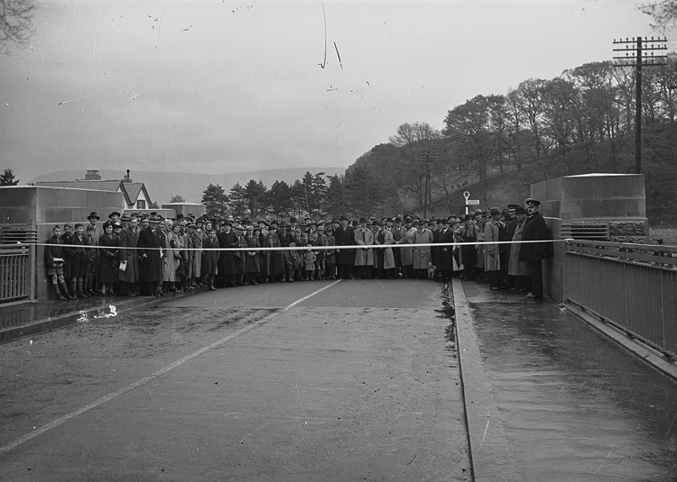 [Opening of the Irfon bridge, near Builth Wells]