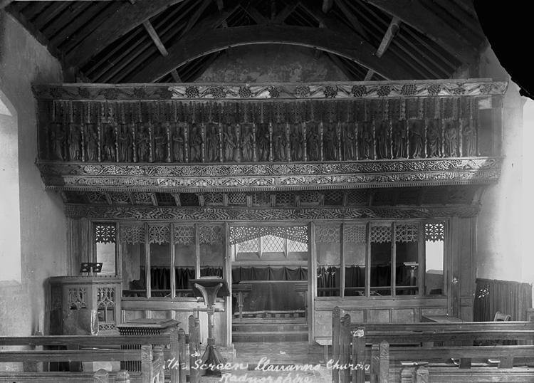 The screen, Llananno church, Radnorshire