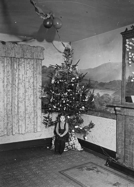 [Christmas tree and little girl]
