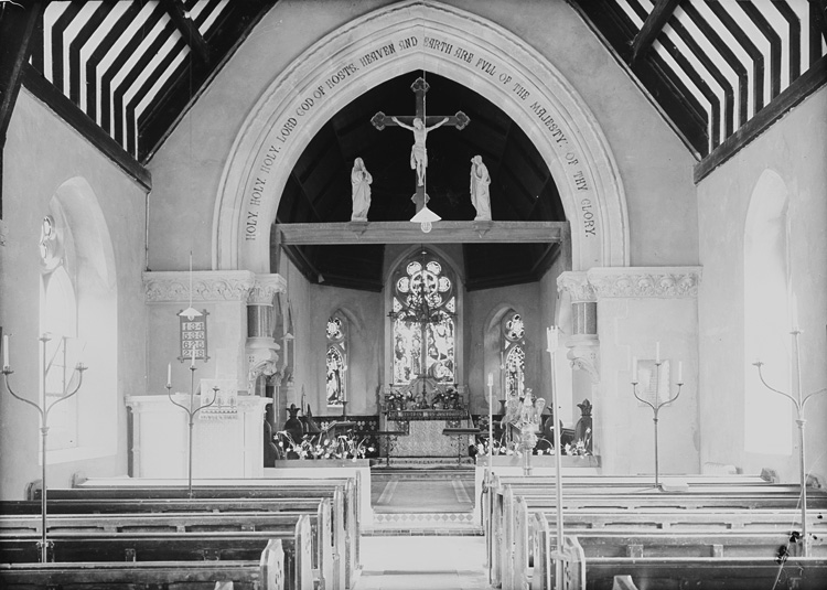 [Interior of St. Mary's church, Abbeycwmhir]