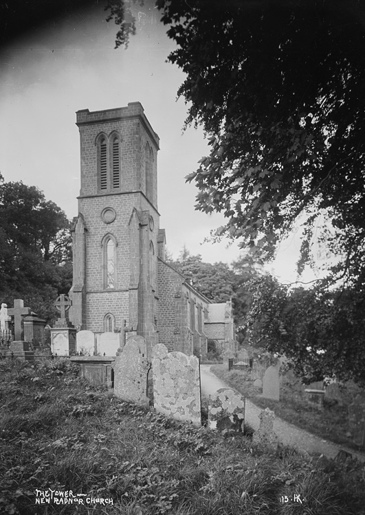 The tower New Radnor church