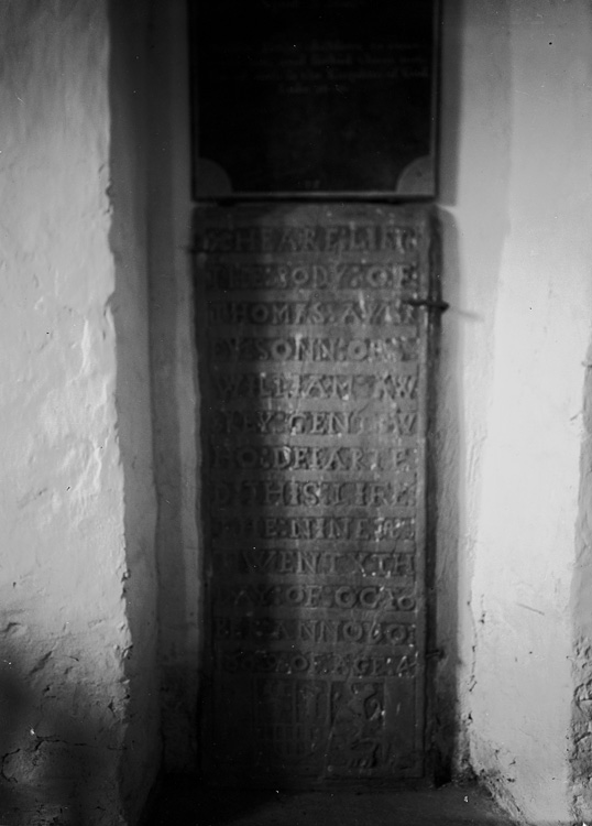 [Carved dedication on stone]
