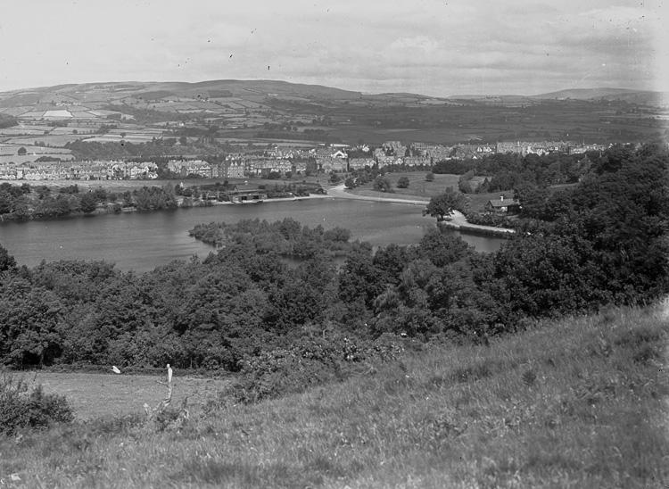 [View of Llandrindod and lake]