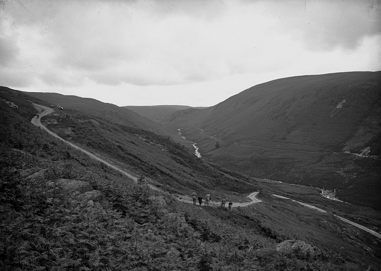 [Motorcycle racing near Rhayader old road]