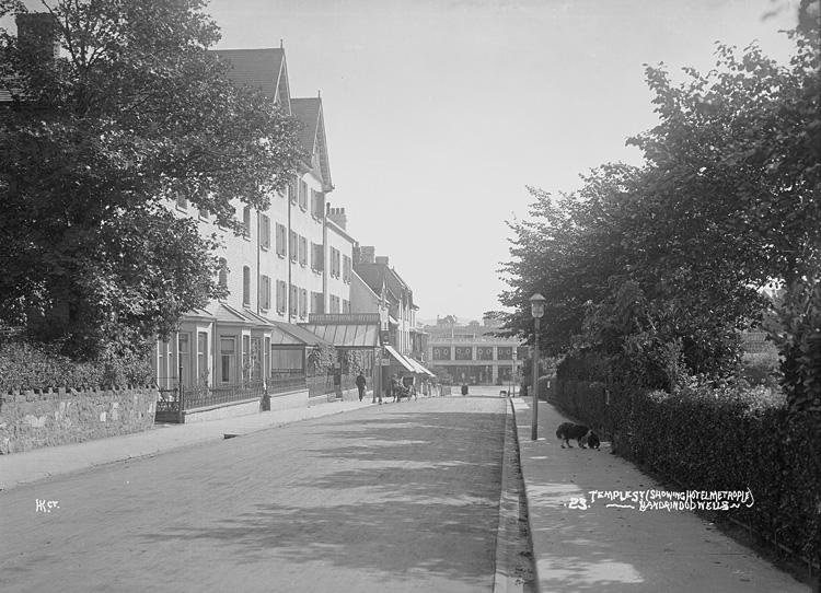 Temple St. (showing Hotel Metrople [i.e. Metropole]) Llandrindod Wells