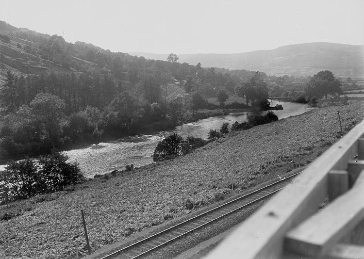 [View of Wye river near Erwood]
