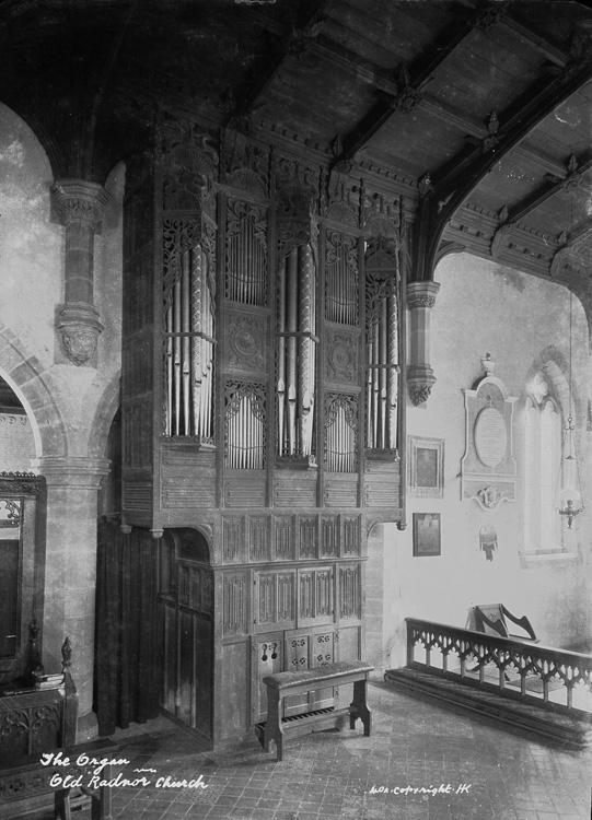 The organ Old Radnor church