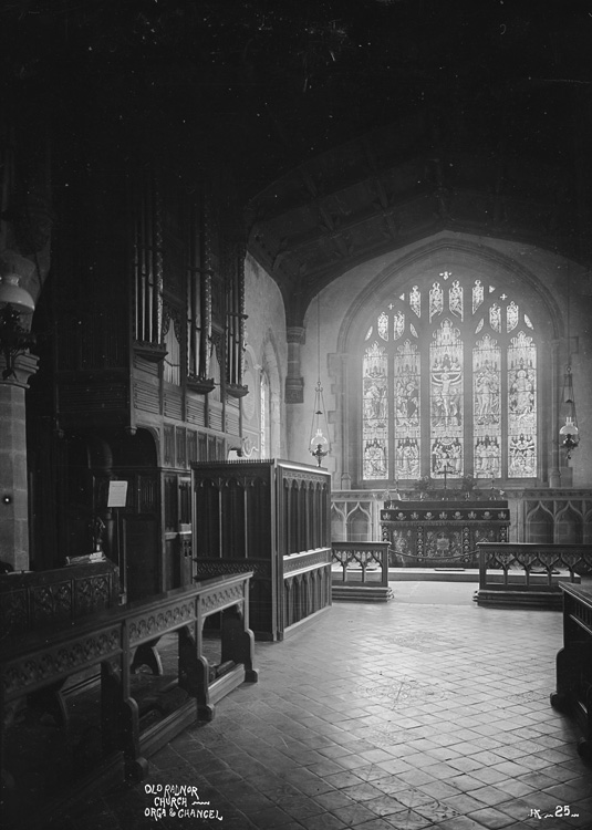 Old Radnor church orga [i.e. organ] & chancel