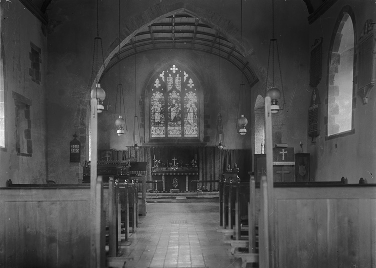 [Interior of St David's church, Glascombe]