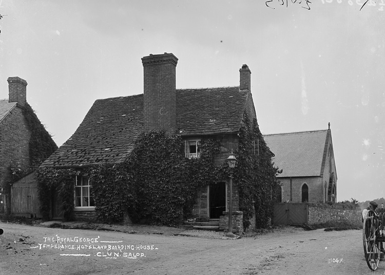 The ' Royal George' Temperance hotel and boarding house Clun Salop