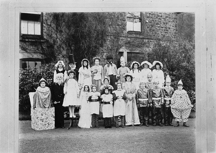 [A group of children in fancy dress]