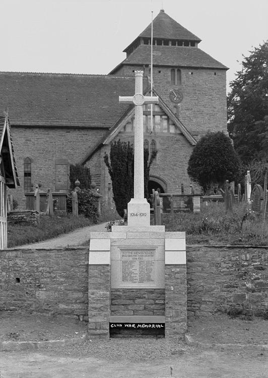 Clun war memorial