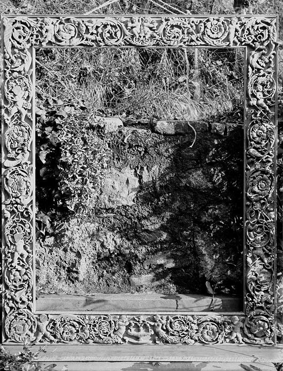 [Framed stone]