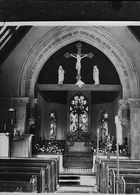 [Interior of St. Marys church Abbeycwmhir]