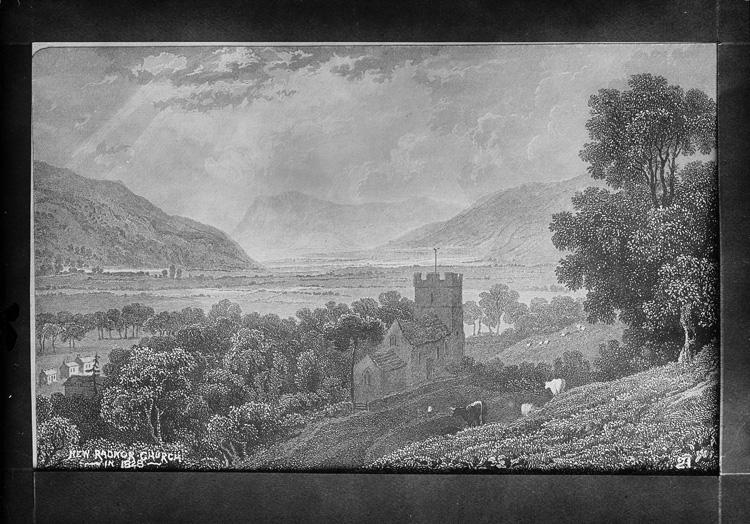 New Radnor church in 1828
