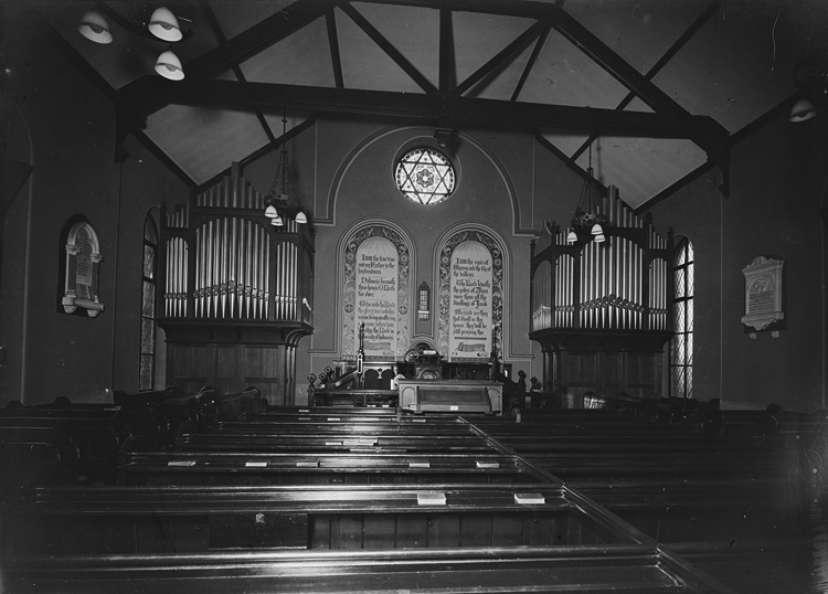 [Interior of Horeb Congregational Church, Builth Wells]
