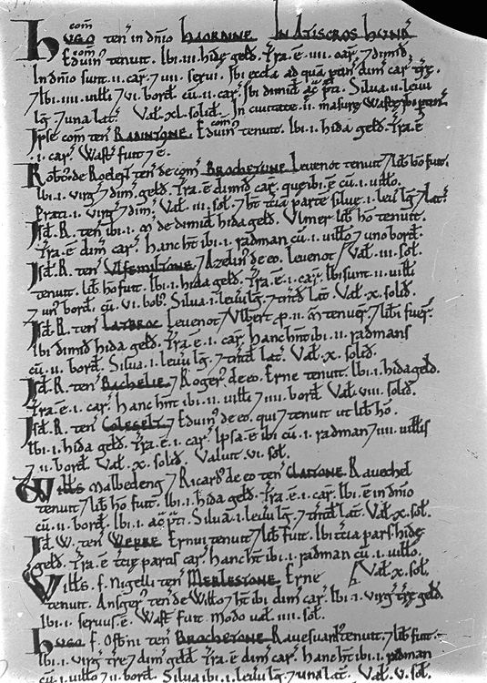 [Page from the Domesday book manuscripts]