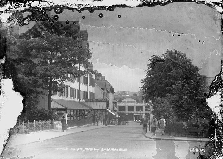 Temple St. and Hotel Metropole Llandrindod Wells