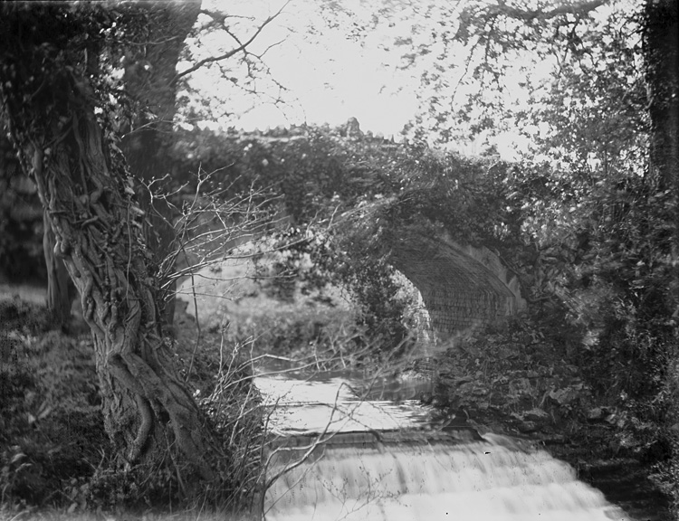 [Woodland and bridge]