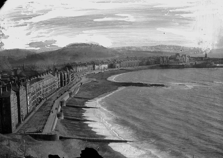[View of Aberystwyth sea front looking south from Constitution hill]